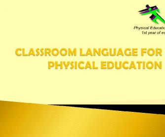 Classroom Language for PE