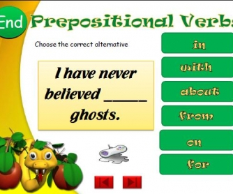 Prepositional Verbs PowerPoint Presentation
