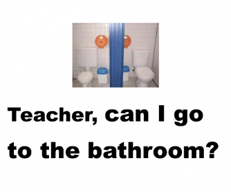 Can I Go to the Bathroom? [Poster]