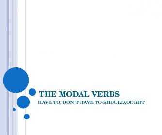 Modal Verbs Presentation