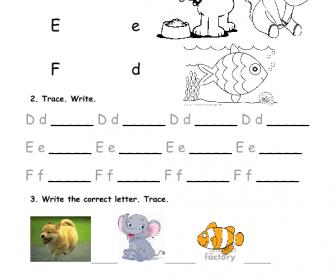 Alphabet Practice - DEF