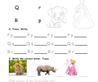 Alphabet Practice PQR