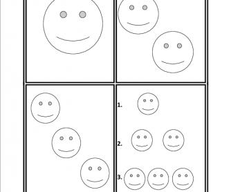 1 2 3 Smiley Faces