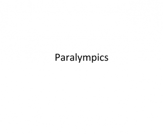 PPT on Paralympics [London 2012]