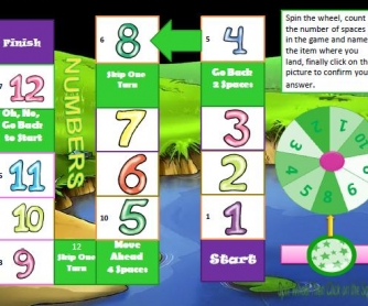 Cardinal Numbers Interactive Boardgame