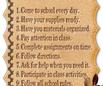 10 Ways To Be a Good Student Classroom Poster