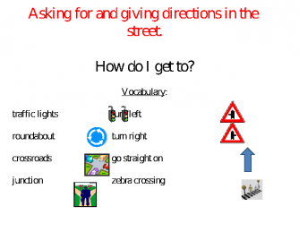 asking giving direction Asking for and giving directions in english learn with flashcards, games, and more — for free.