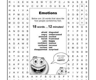 Word Search: Emotions
