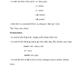 Present Tense -s & Past tense -ed Spelling