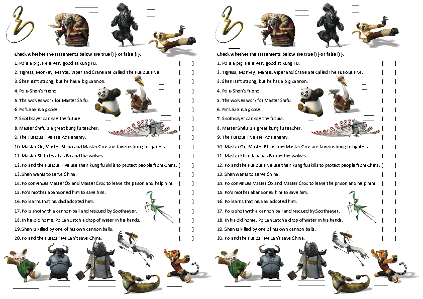 Movie Activity Kung Fu Panda 2