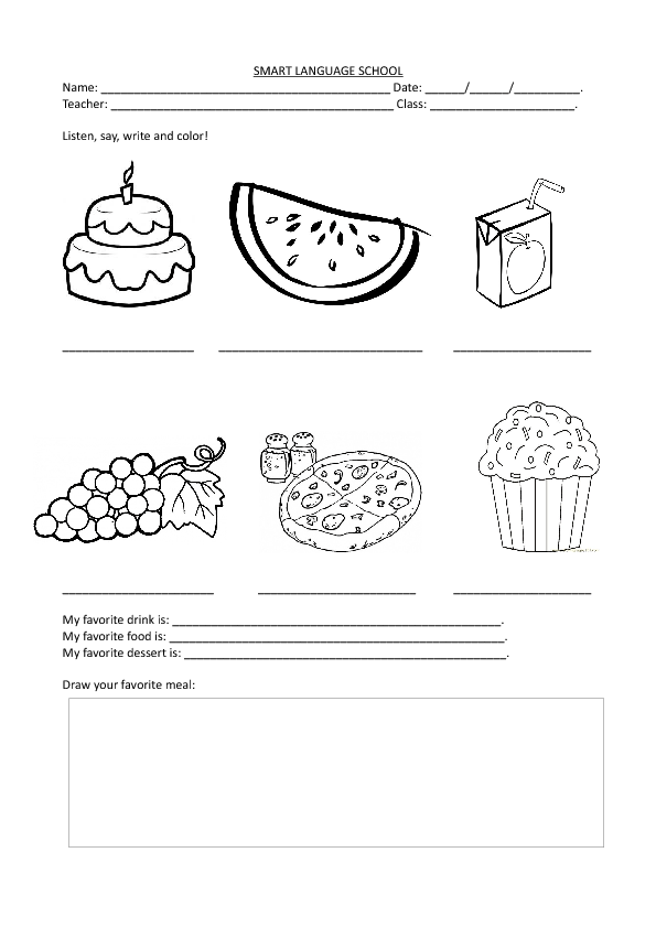 kids coloring pages nutrition foods - photo#41