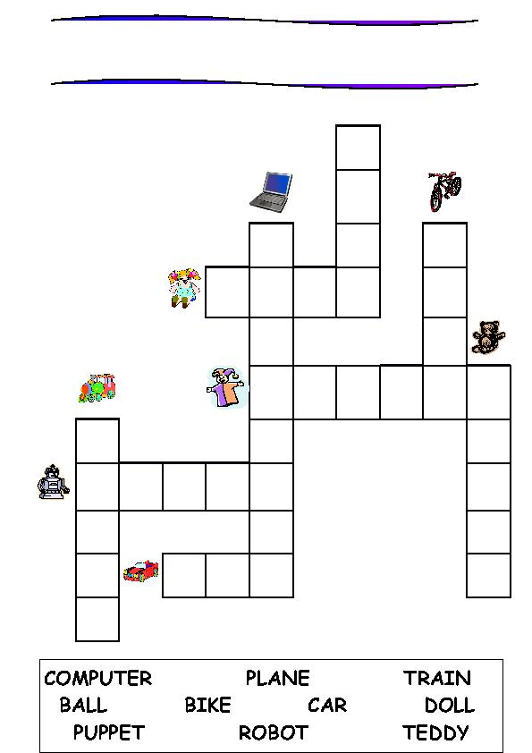 Toys Crossword