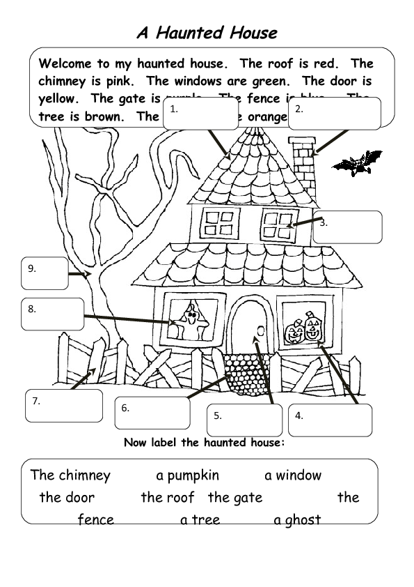 The Haunted House: A Halloween Activity