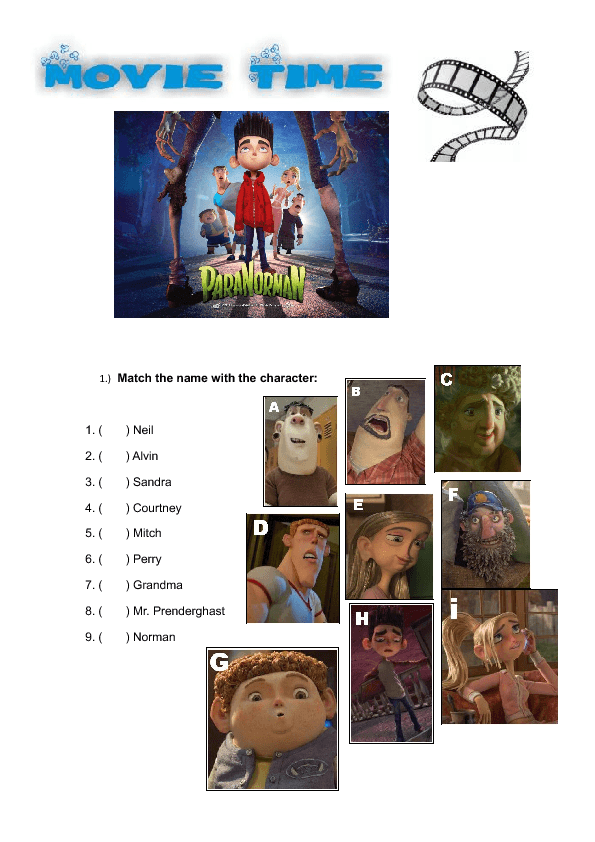 Movie Worksheet Paranorman