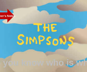 Revise Family Vocabulary with the Simpsons