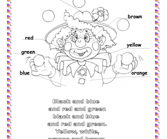 Song Worksheet: Colours (clown)