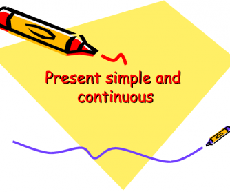 Present Simple Vs. Present Continuous Ppt