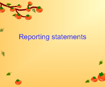 Reporting Statements