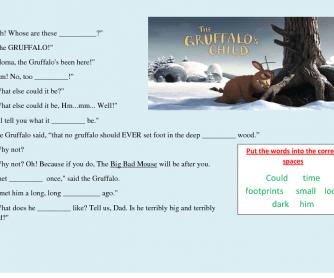 Video Worksheet: The Gruffalo's Child