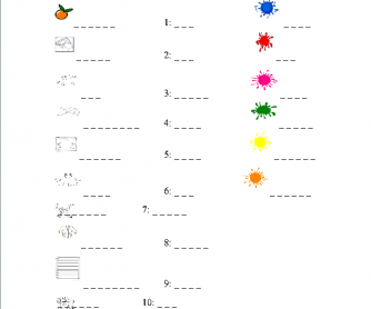 Easy Test for Early Beginners (Colors, Numbers 1-10)