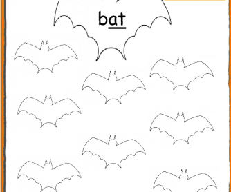 Halloween Phonics: -At Words Worksheet PreK-Grade1