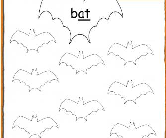 Halloween Phonics: -At Words Worksheet PreK-Grade1