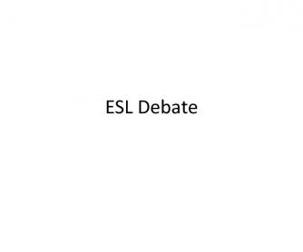 General Conversation: Various Debate Topics