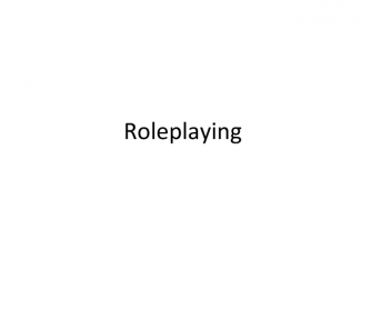 General Role Playing Topics & Games