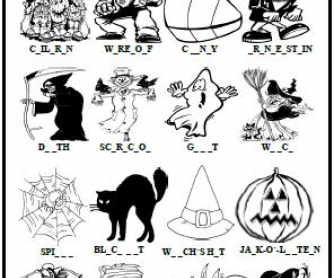 Halloween Missing Letters Activity