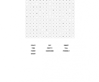 Appearance Vocabulary Word Search