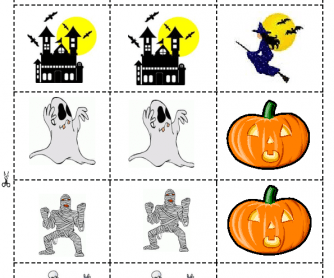 Halloween Memory Game for Young Learners