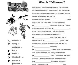 What is Halloween? Reading Gap-Fill