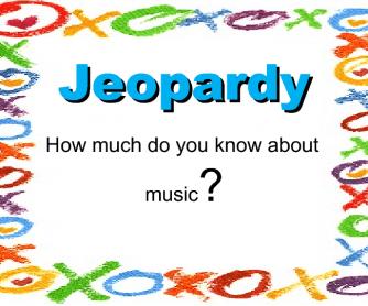 Superlatives: Jeopardy Game