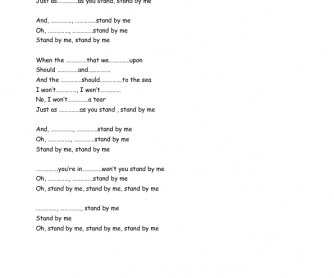 Song Worksheet: Stand by Me by The Beatles