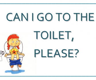 "Poster ""Can I Go to the Toilet?"""