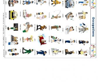 Yo-Yee Occupation Flashcards / Pictionary Worksheet