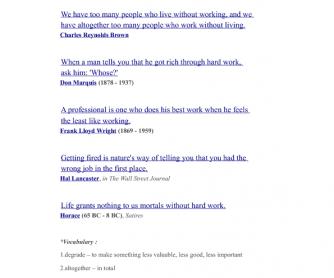 Bill Gates On Life - Intermediate Reading