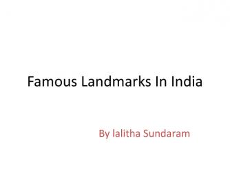 Famous Landmarks of India