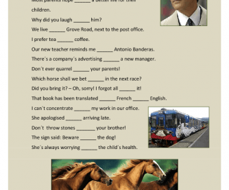 Prepositions with Verbs