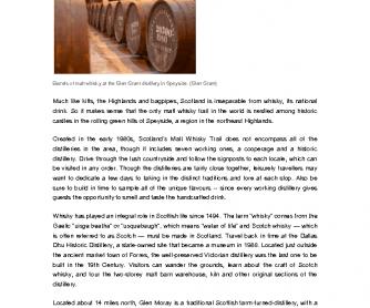 Exploring Scotland's Historic Whisky Trail