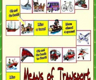 Means of Transport Boardgame