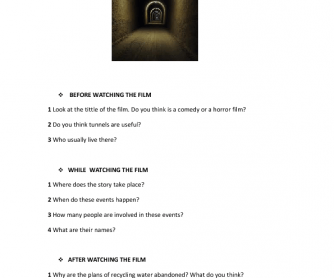Movie Worksheet: The Tunnel