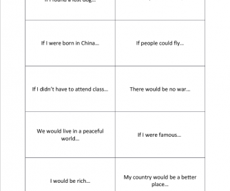 2nd Conditional Practice Cards