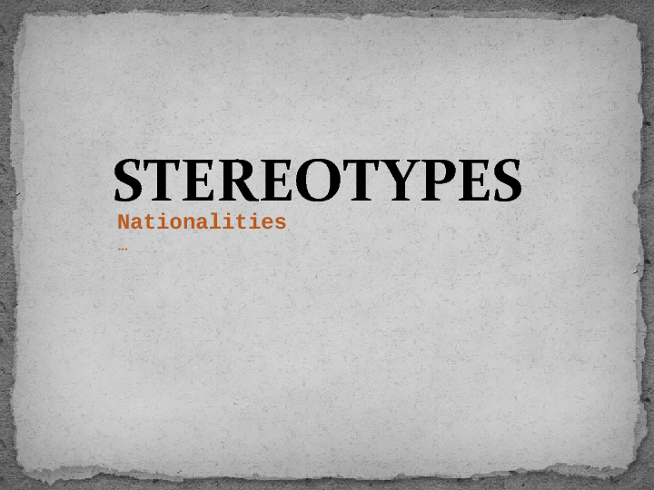opinion essay stereotypes