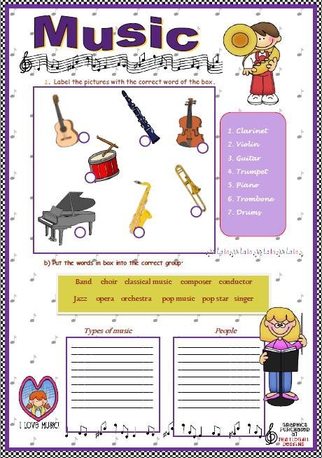 Music Elementary Worksheet