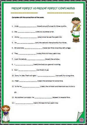 Present Perfect Vs Present Perfect Continuous Worksheet