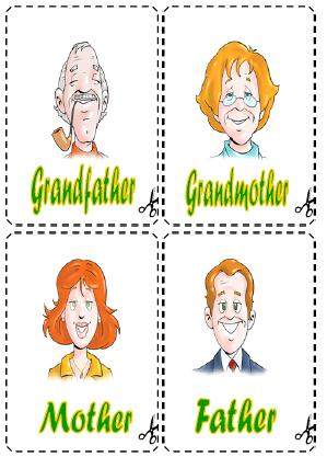 This is a set of cards for teaching or revising family related ...