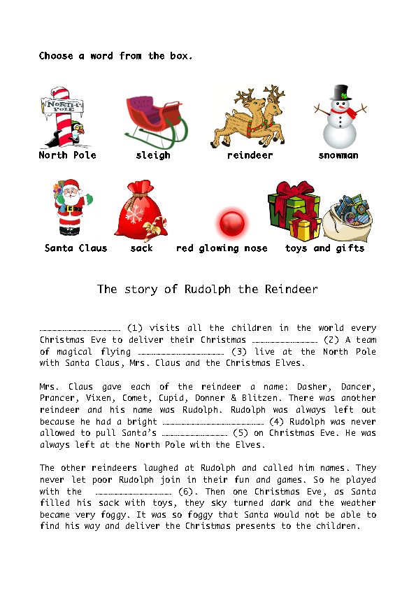 picture about Words to Rudolph the Red Nosed Reindeer Printable identify The Tale of Rudolph the Purple Nose Reindeer