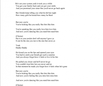 Song Worksheet: Daddy by Emeli Sande