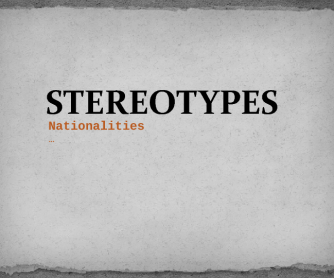 Stereotypes PPT